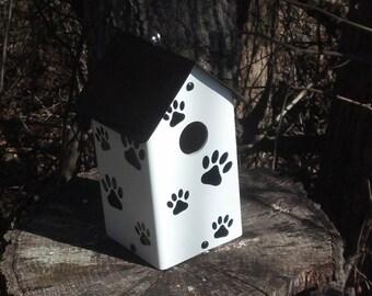 Dog Print Birdhouse