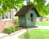 Butterfly Birdhouse w/ Wind Chimes