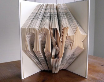 Graduation Gift - Boyfriend / Girlfriend Anniversary Gift  - Handmade -  Paper Anniversary - My Star - Folded Book Art
