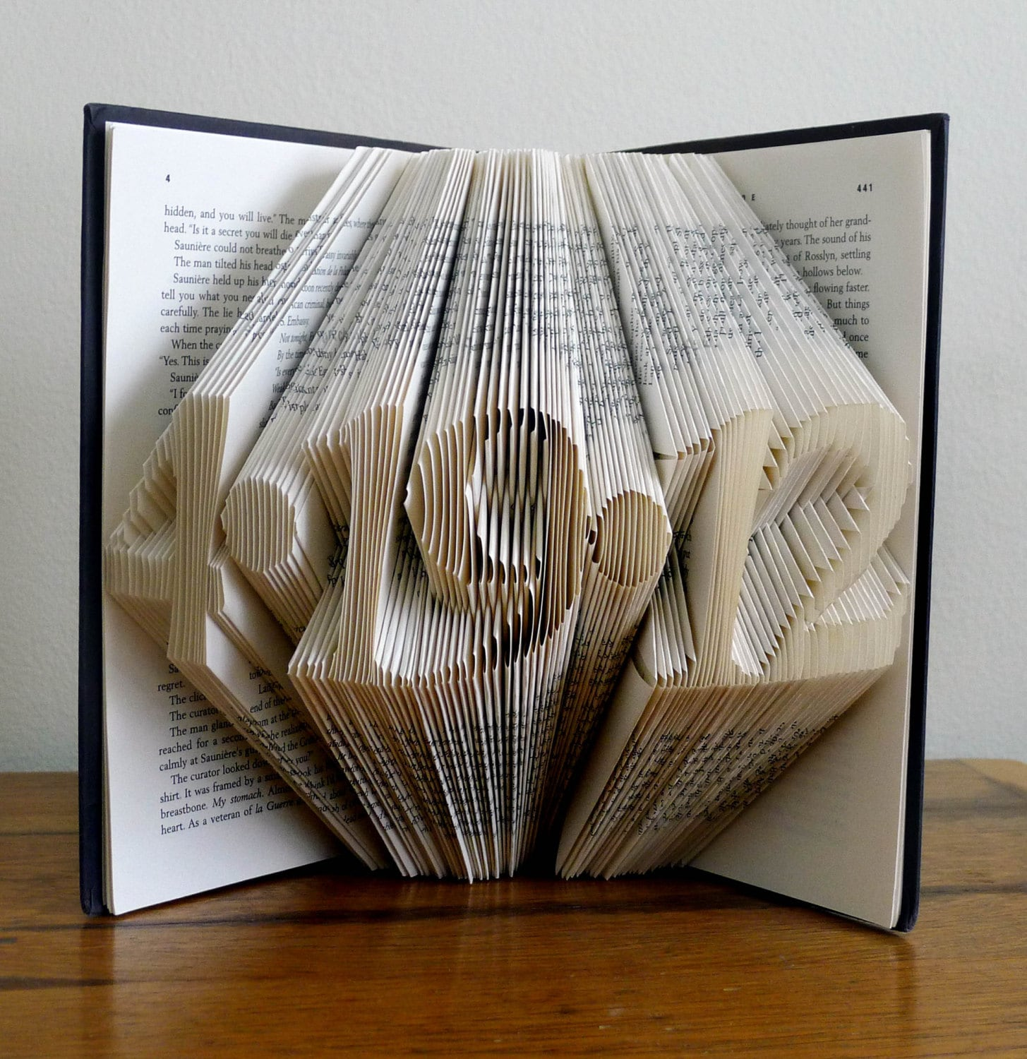 First Wedding Anniversary Gift Ideas For My Wife : Folded Book Art Paper Anniversary Save the Date First