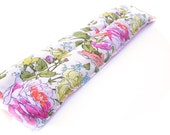 Organic Flannel Heating Pad, Amy Butler Organic Cotton Heat Pack, Spring Allergies, Relaxing Aromatherapy, Pink, Yellow Rose Floral