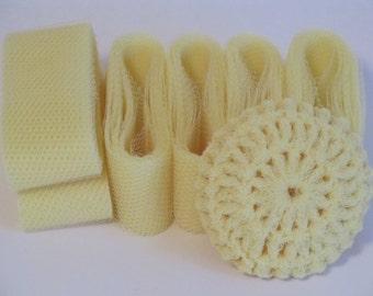 Scrubbie Supplies Yellow Nylon Netting Strips