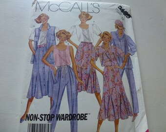 Vintage McCalls Misses  Shirt Jacket  Vest Blouse  Skirt and  Pants 3199 Size 12
