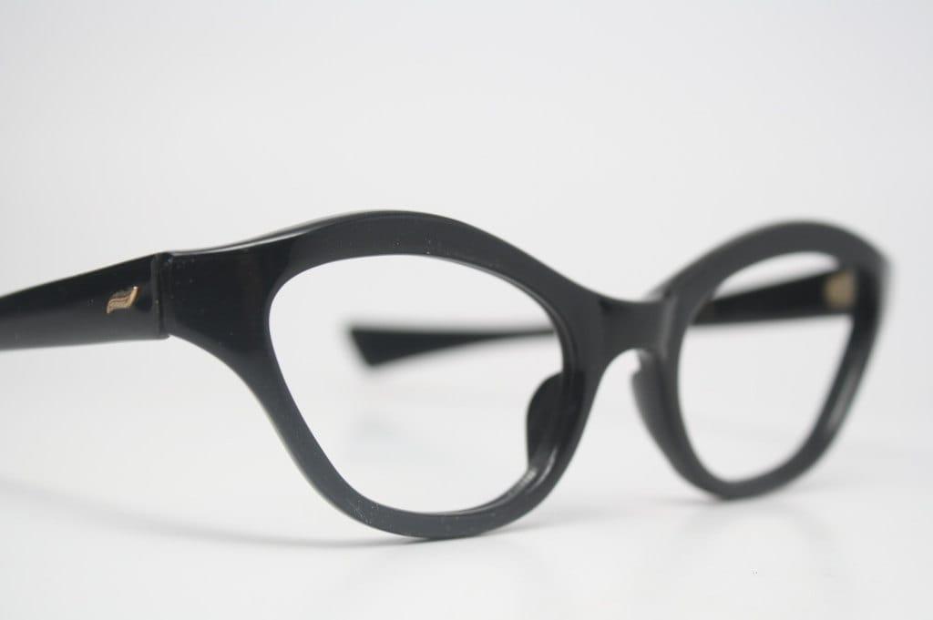 black cat eye glasses glasses retro eyewear by pincenezshop