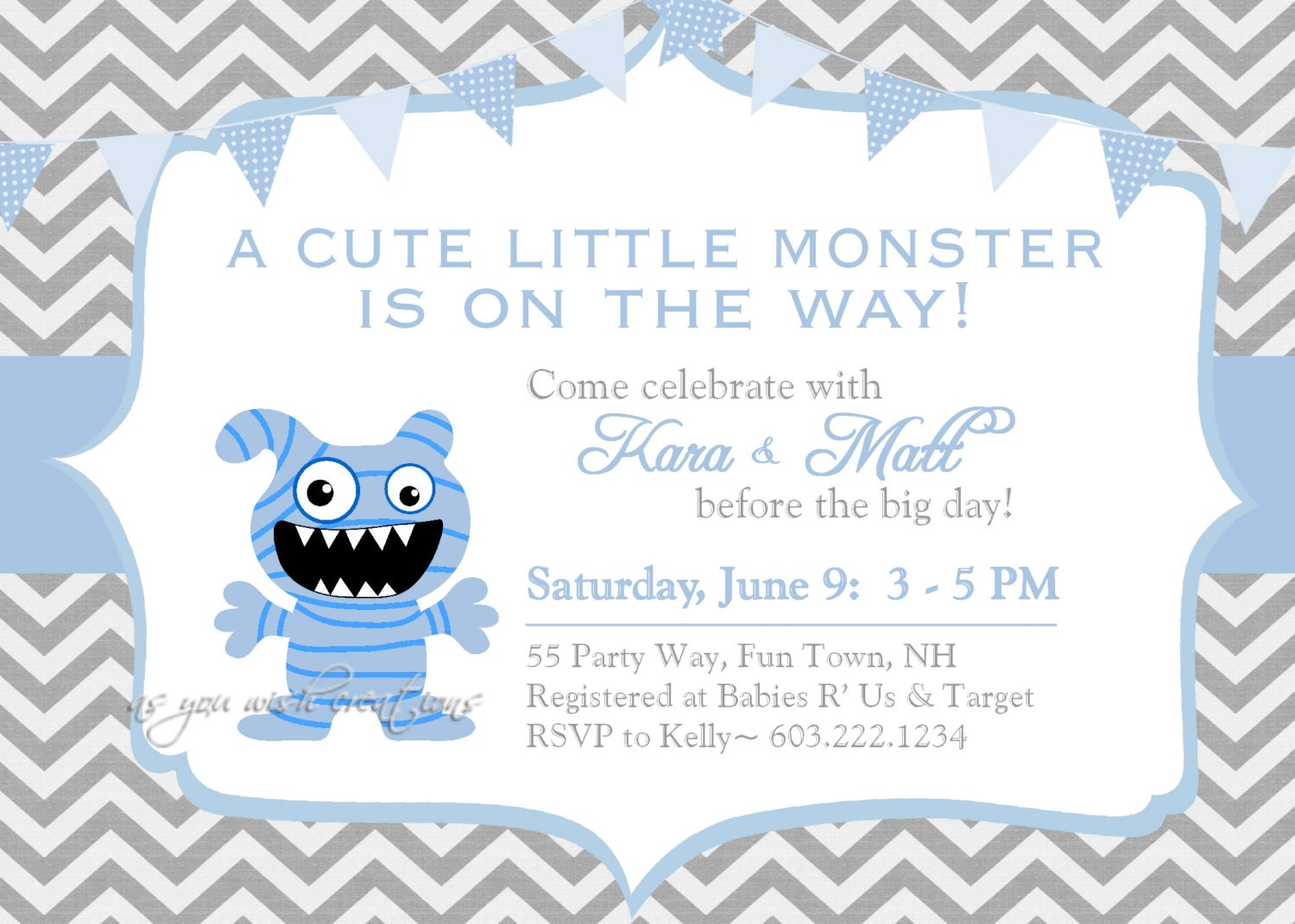 Monster Baby Shower Invitations can inspire you to create best invitation template