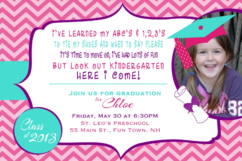 graduation party invitation preschool by asyouwishcreationsu, Quinceanera invitations