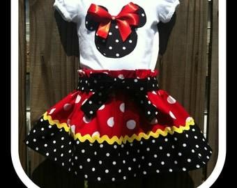 Mickey mouse skirt set polka dot skirt set mickey mouse polka dots