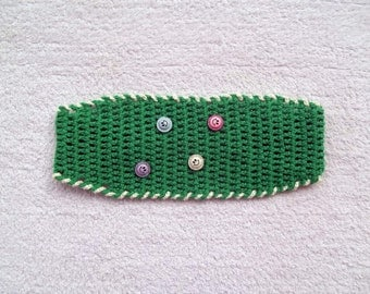 Crochet headband, in green, spring summer accessories, gift for her, gift for mom, mothers day gifts, children and adult hairband
