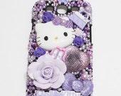 SALE - Samsung Galaxy S3 Case - purple kitty