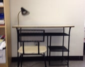 Weinberg wrought iron desk and chair mid century classic