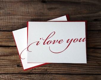 I Love You Letterpress Card