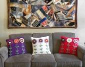 """crochet pillow cover, 18"""" x 18"""""""
