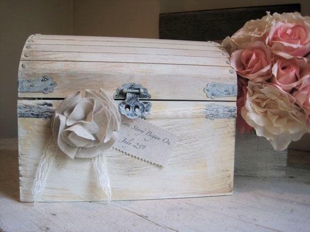 Wedding Gift Box Holder: Wedding Gift Card Holder Wedding Keepsake Box By