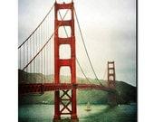 "WINTER SALE 30% OFF  Photography Golden Gate Bridge San Francisco California Home Decor ""Golden Gate"" 8x12 Print"