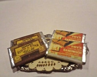 20% OFF dollshouse miniature chocolates on tray