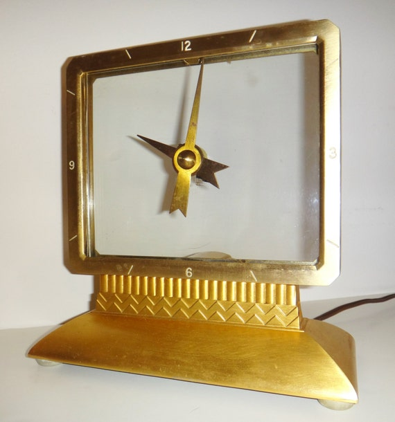 Vintage Mystery Clock Mastercrafters Model 209 1940s Works