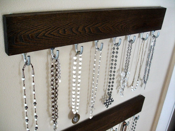 Hanging Modern Jewelry Organizer / Coat by ClassicModernNatural