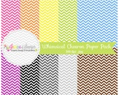 INSTANT DOWNLOAD,  whimsical chevron digital paper pack - preppy background - card making - invitation - printable papers