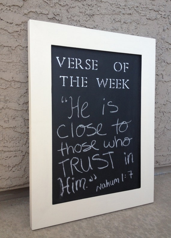 Verse Of The Week Chalkboard Christian Home Decor Cream