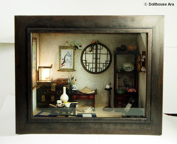 The orient traditional room (No.1)- asian old things, antiques -Dollhouse Miniatures 1:12