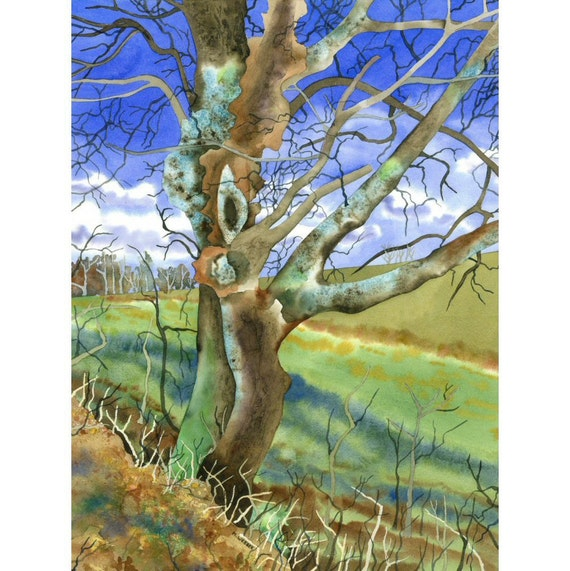 Winter Tree Landscape Limited Edition Giclee Print