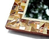 Brown Wall Mirror, Glass Mosaic Mirror - Made to Order