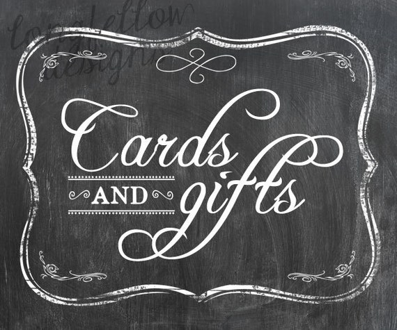 DIY Customized Printable Wedding Chalkboard Look Prints - 8 x 10 - Digital File Only - Examples shown
