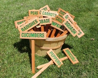 Master Gardener Dream Set, 21 Garden signs, Mix and Match Signs, Gardener Gift, Custom Garden Sign, Personalized Garden Marker, Outdoor Sign