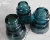 Vintage Hemingray   Blue Electrical  Insulators ECS