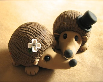 Hedgehog Wedding Cake Topper Handmade