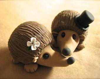 Hedgehog Wedding Cake Topper Handmade