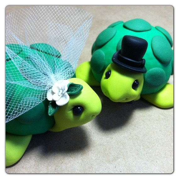 turtle wedding cake toppers ready to ship turtle wedding cake topper handmade by luluamour 21320