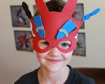 Dragon Mask Pattern PDF Instant Download Pattern