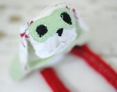 SALE! Superhero Dog, Silly Sock Animal, Hand Stitched, Made with all Reclaimed Fabrics, OOAK