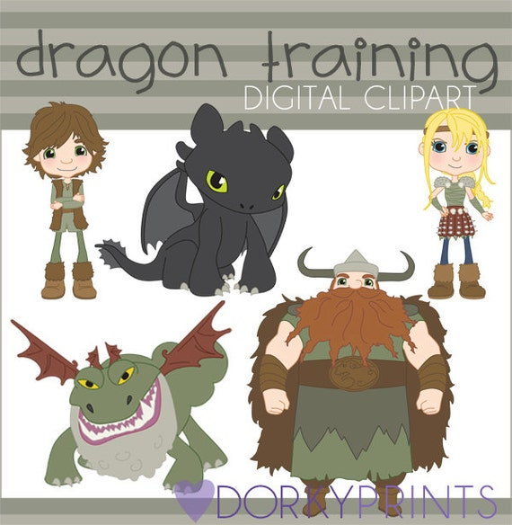 Train Your Dragon Clipart Set Personal