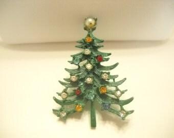 Vintage 1960s CHRISTMAS TREE BROOCH (5436)