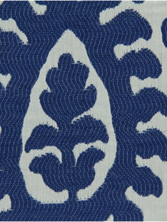 Throw Pillow Yardage : Cobalt Blue Ikat Upholstery Fabric - Modern Blue White Home Decor Yardage - Ikat Roman Shade ...