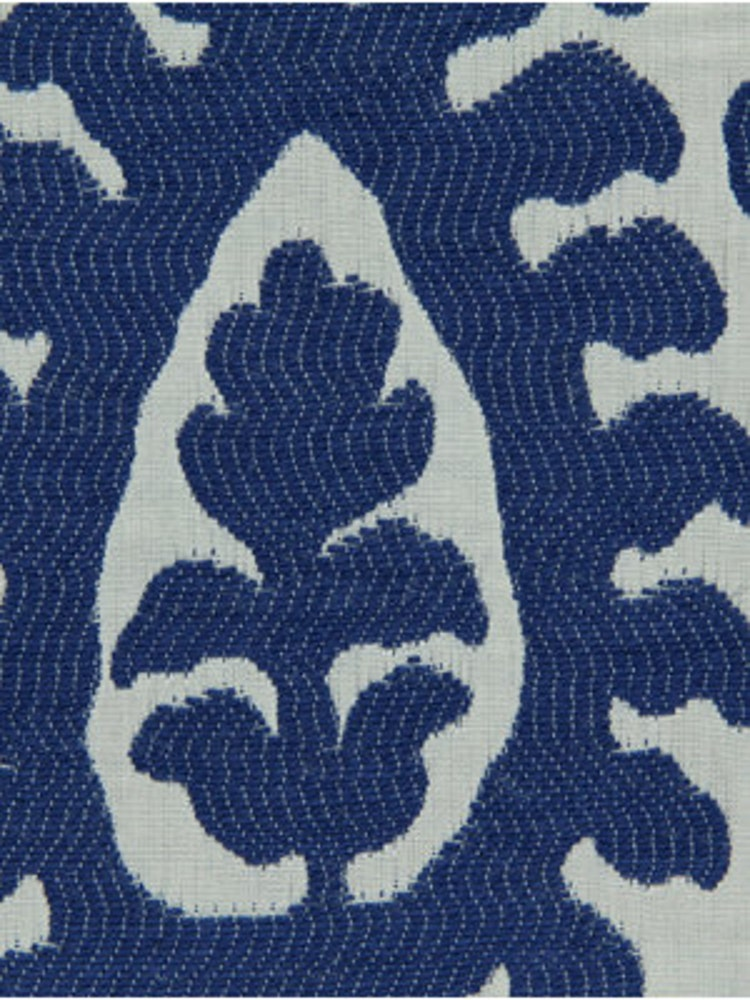 Cobalt Blue Ikat Upholstery Fabric Modern Blue By