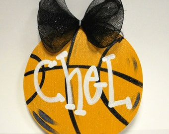 Basketball Door Hanger, Basketball team gift, Basketball Decor