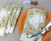 SALE- Hungry Bunny Napkin- set of 4