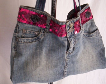 Purse, women accessories, bag, school bag, gift for her, handmade purse, denim purse, washable bag, birthday gift, for her, friend gift.