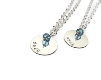 sterling silver personalized necklace // hand stamped jewelry