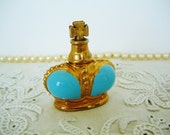 PRINCE MATCHABELLI BELOVED Discontinued Perfume 1950 Blue Enamel Crown Perfume Bottle Collectible Vintage Figural Flacon
