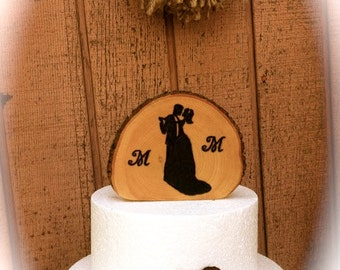 Wooden Wedding Cake Topper, Bride Groom Cake Topper, Fall Wedding Cake Topper, Rustic Cake Decoration