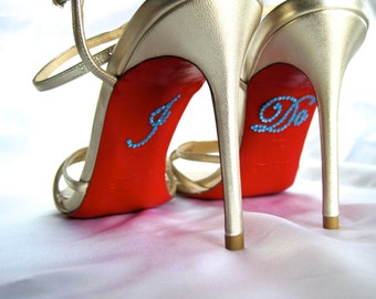 I Do Shoe Stickers. RhinestoneI Do Applique for Shoes. Wedding Shoe Stickers. I Do Decals. Just Married. Wedding Favors.