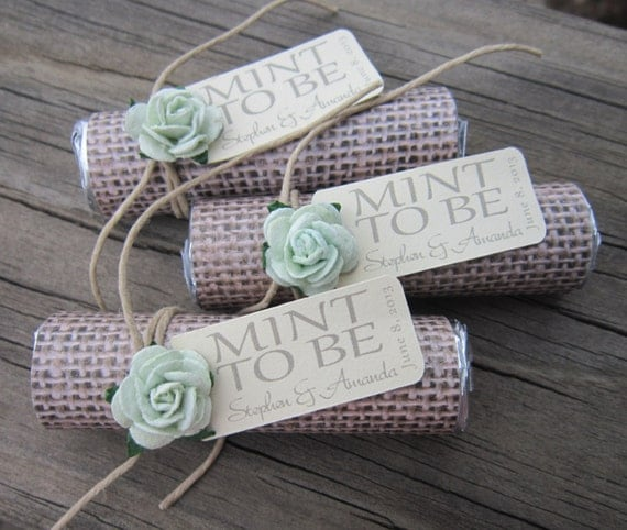 Items Similar To Mint Wedding Favors