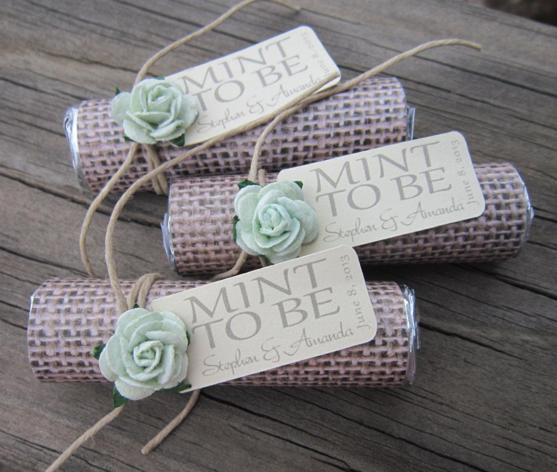 Cheap Wedding Present Uk : Mint wedding Favors Set of 24 mint rolls Mint to