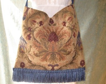 Bohemiam Tapestry Slouchy Bag Purse, messenger bag, fabric shoulder bag