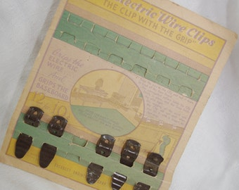 "Vintage 1950s Advertising ""Elite Electric Wire Clips"""
