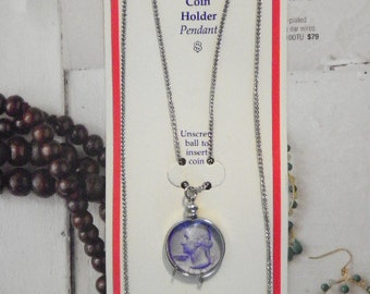 1 Silverplated Necklace with U.S. Quarter Holder